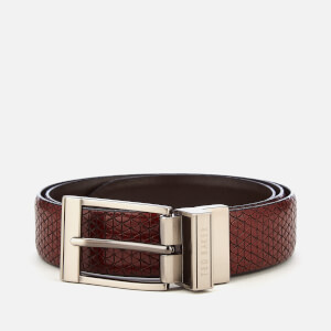 Ted Baker Men's Tatti Textured Reversible Belt - Chocolate