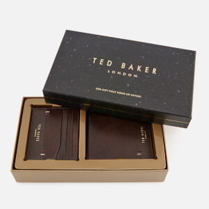 Ted Baker Men's Taglee Wallet and Card Holder Giftset - Chocolate