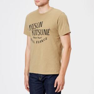 Maison Kitsuné Men's Palais Royal Crew Neck T-Shirt - Beige Melange