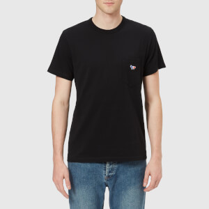 Maison Kitsuné Men's Tricolor Fox Pocket T-Shirt - Black