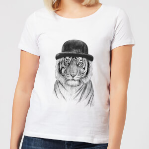 Tiger In A Hat Women's T-Shirt - White