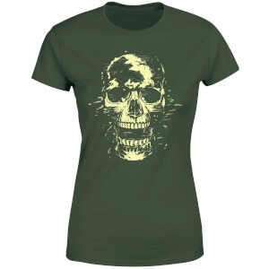Balazs Solti Skull Women's T-Shirt - Forest Green
