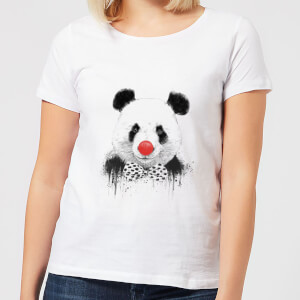 Balazs Solti Red Nosed Panda Women's T-Shirt - White