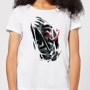 Venom Chest Burst Damen T-Shirt - Weiß