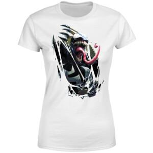 Venom Chest Burst Women's T-Shirt - White