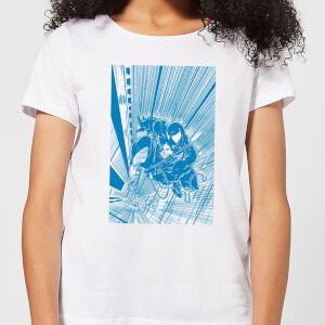 Venom Comic Panel Damen T-Shirt - Weiß