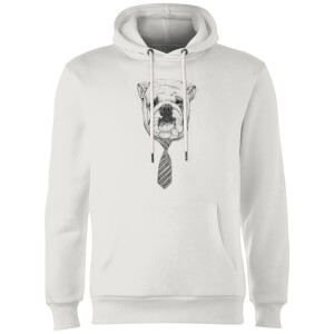 Balazs Solti Suited And Booted Bulldog Hoodie - White