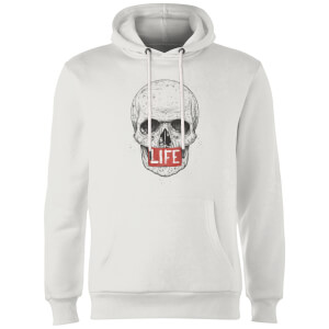 Balazs Solti Life Skull Hoodie - White