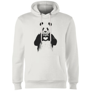 Balazs Solti Panda Love Hoodie - White