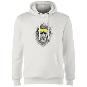 Balazs Solti Lion And Sweatband Hoodie - White