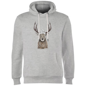 Balazs Solti Winter Deer Hoodie - Grey