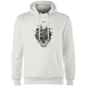 Balazs Solti Skulls And Flowers Hoodie - White