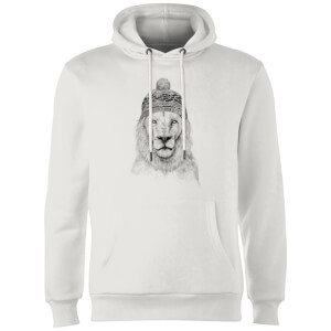Balazs Solti Lion With Hat Hoodie - White