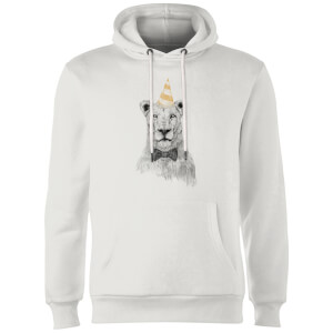 Balazs Solti Party Lion Hoodie - White