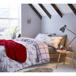 Catherine Lansfield Stag Brushed Duvet Set