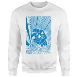Venom Comic Panel Sweatshirt - White