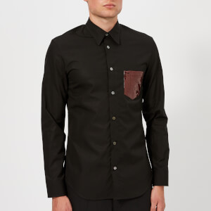Maison Margiela Men's Plastic Pocket Poplin Shirt - Black