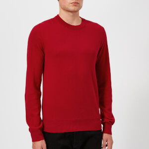 Maison Margiela Men's Elbow Patch 12 Gauge Knitted Jumper - Red