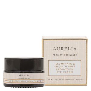 Aurelia Probiotic Skincare Illuminate and Smooth Puff Reduction Eye Cream -silmänympärysvoide, 15ml