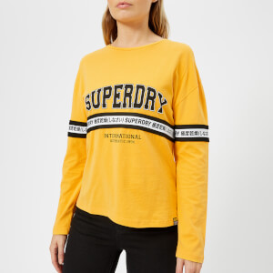 Superdry Women's Tape Graphic Top - Sporty Ochre