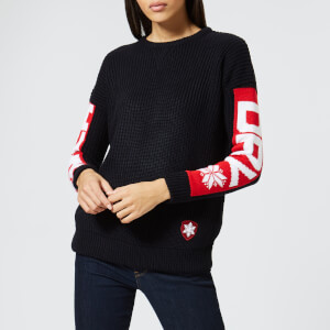 Superdry Women's Winter Sports Sloppy Crew - Navy