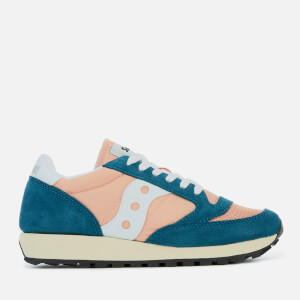Saucony Women's Jazz Original Vintage Trainers - Teal/Peach