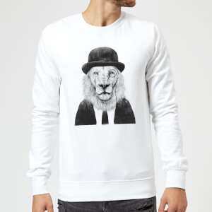 Balazs Solti Monocle Lion Sweatshirt - White