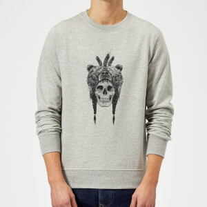 Balazs Solti Bear Head Sweatshirt - Grey