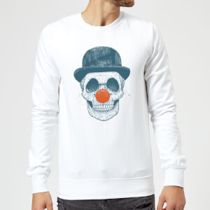Balazs Solti Red Nosed Skull Sweatshirt - White