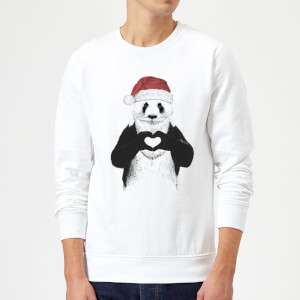 Balazs Solti Santa Bear Sweatshirt - White