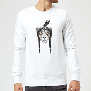 Balazs Solti Native Lion Sweatshirt - White