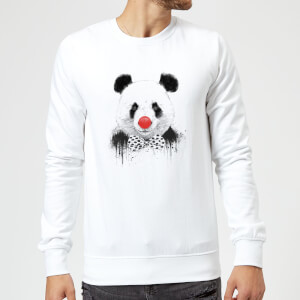 Balazs Solti Red Nosed Panda Sweatshirt - White