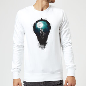 Balazs Solti NYC Moon Sweatshirt - White