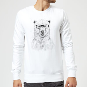 Balazs Solti Polar Bear And Glasses Sweatshirt - White