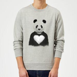 Balazs Solti Panda Love Sweatshirt - Grey