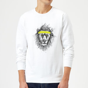 Balazs Solti Lion And Sweatband Sweatshirt - White