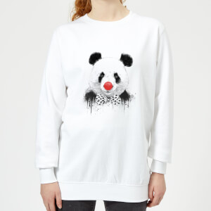 Red Nosed Panda Women's Sweatshirt - White