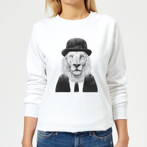 Monocle Lion Women's Sweatshirt - White