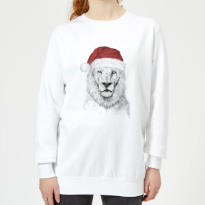 Santa Bear Women's Sweatshirt - White