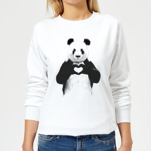 Panda Love Women's Sweatshirt - White