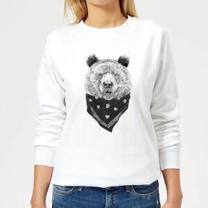 Bandana Panda Women's Sweatshirt - White