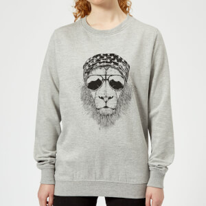 Bandana Lion Women's Sweatshirt - Grey