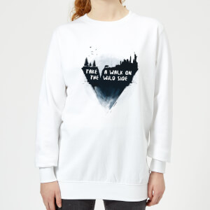 Take A Walk On The Wild Side Women's Sweatshirt - White