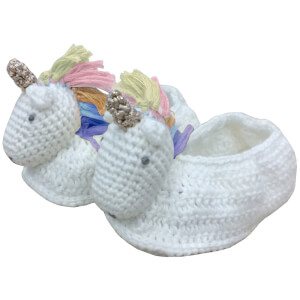 Albetta Crochet Rainbow Unicorn Booties