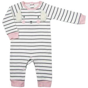 Albetta Bunny Raglan Stripe Babygrow - 0-3 Months
