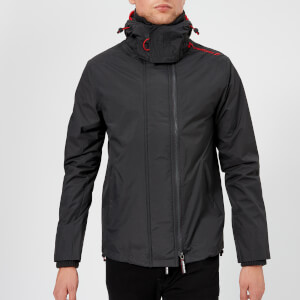 Superdry Men's Windcheater Jacket - Dark Charcoal/Court Red