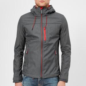 Superdry Men's Windtrekker Jacket - Graphite Marl/Red