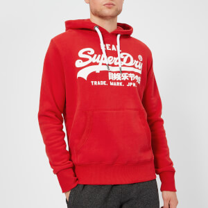 Superdry Men's Vintage Logo Hoody - Pitch Red