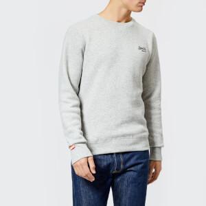 Superdry Men's Orange Label Crew Neck Sweatshirt - Anchor Grey Grit