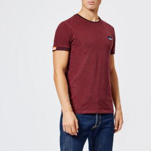 Superdry Men's Orange Label Cali Ringer T-Shirt - Burnt Berry Grit